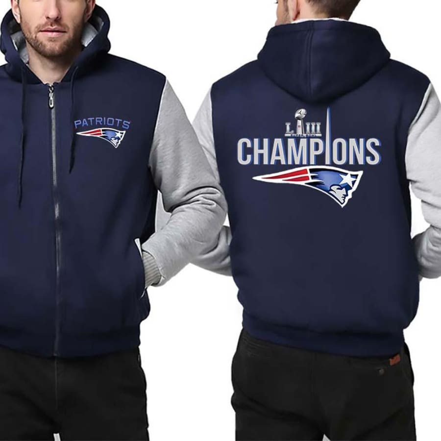 New England Patriots Jacket|Super Bowl LIII Varsity Jackets (4 Colors) - Blue White / 4XL