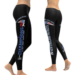 New England Patriots Leggings Black | Patriots Yoga Pants