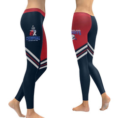New England Patriots Leggings Colorblock Stripe| 6x Champs Yoga Pants