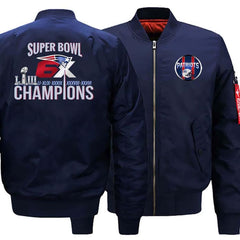 New England Patriots Ma-1 Bomber Jacket| 6x Super Bowl Varsity Jackets (3 Colors)