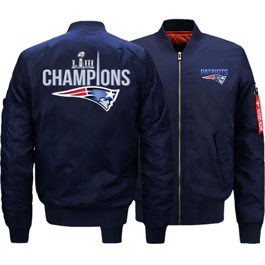 New England Patriots Ma-1 Bomber Jacket| Super Bowl LIII Varsity Jackets (3 Colors)