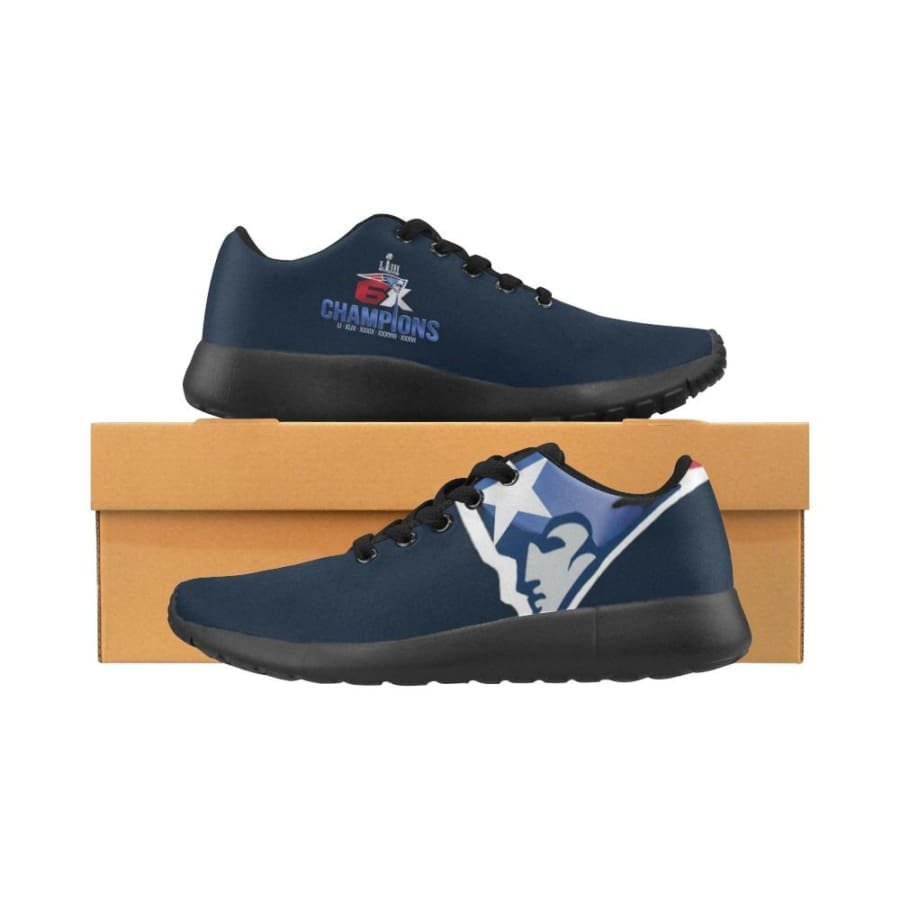 New England Patriots Sneakers| 6x Super Bowl Shoes| Running Shoes - Champs Sneaker Mens Sneakers (Model 020) / US5 / Man
