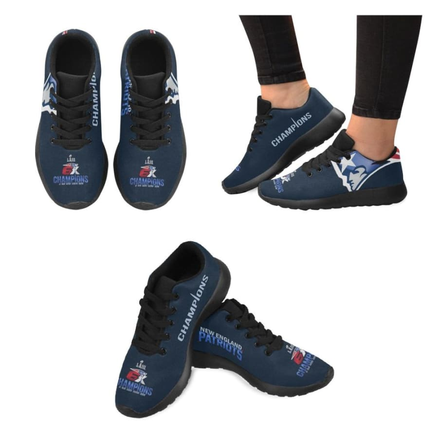 New England Patriots Sneakers|Patriots 6x Super Bowl Shoes|Champs Shoes - Champs Sneaker Mens Sneakers (Model 020) / US5 / Man