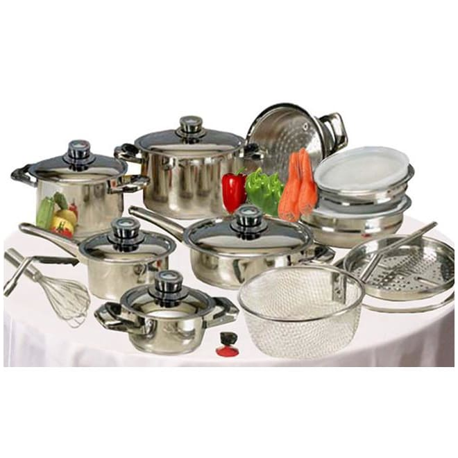 Nutri Stahl Stainless Steel Waterless Cookware Set 22 pieces