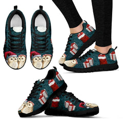 Owl Christmas Sneakers | Running Shoes |Pet Sneakers