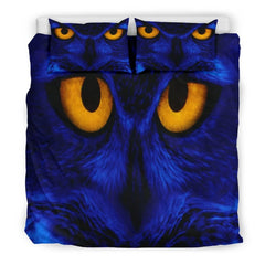 Owl Eyes Doona Bedding Set | Owl Bedding Twin/ Queen/ King Size