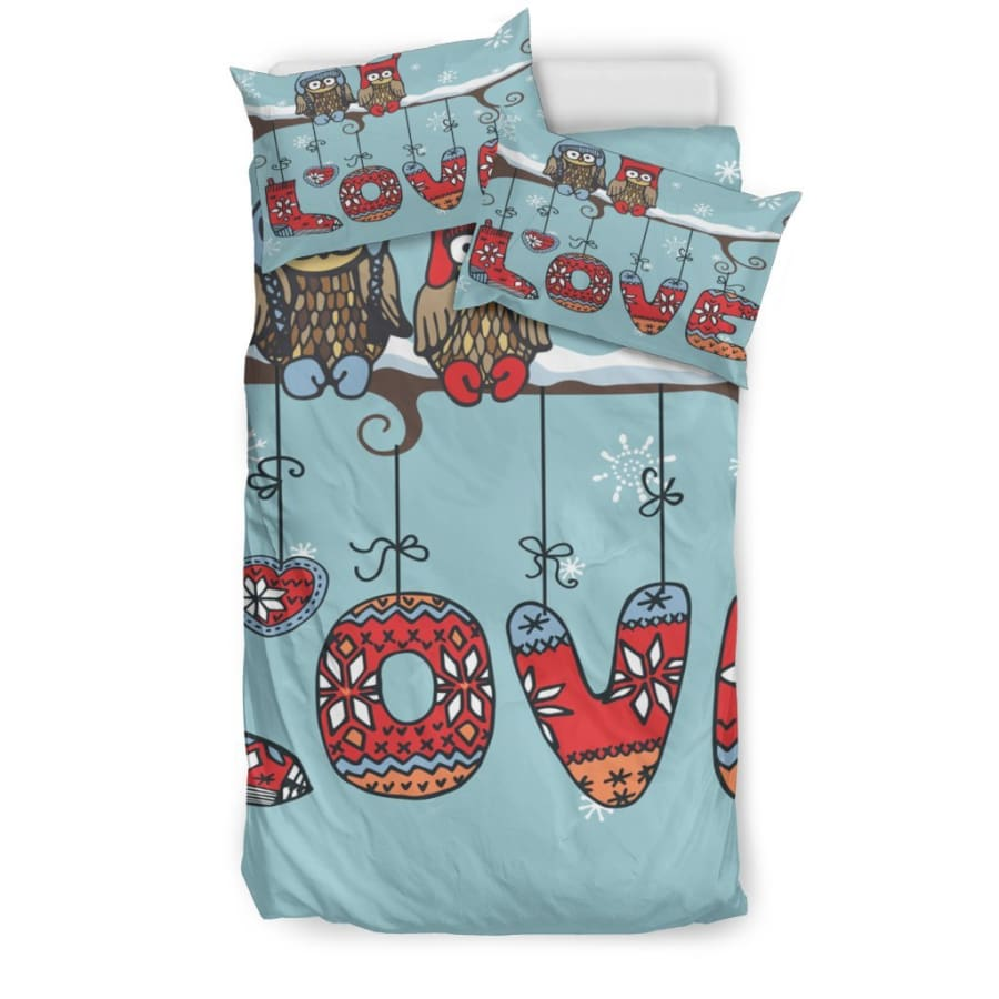 Owl Love Bedding Set|Owl Twin/ Queen/ King Size - Set / Twin