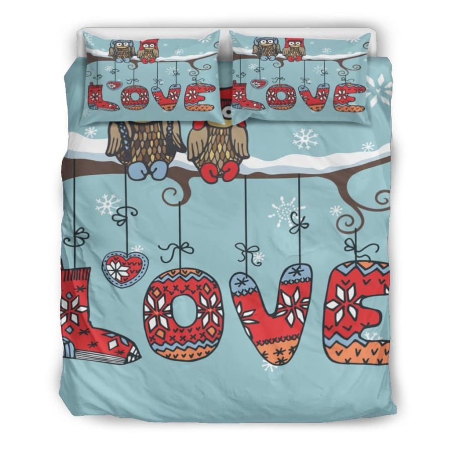 Owl Love Bedding Set|Owl Twin/ Queen/ King Size - Set / Queen/Full