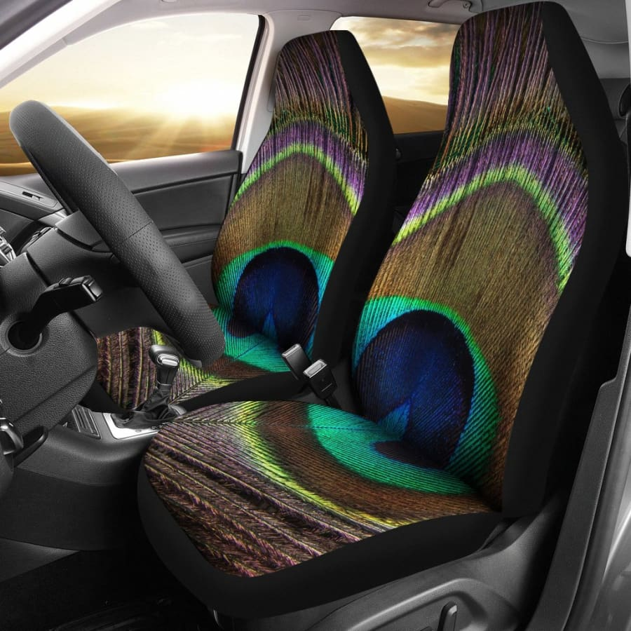 Peacock Car Seat Covers | 2pcs