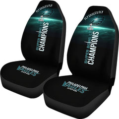 Philadelphia Eagles Car Seat Covers Set Midnight Green Black NFL Eagles Seat Covers