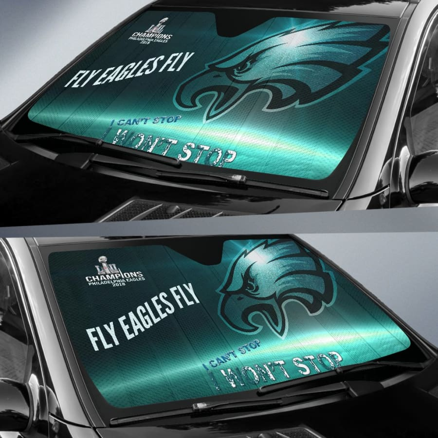 Philadelphia Eagles Champs Auto Sun Shade Protect Against UV Rays & Damage