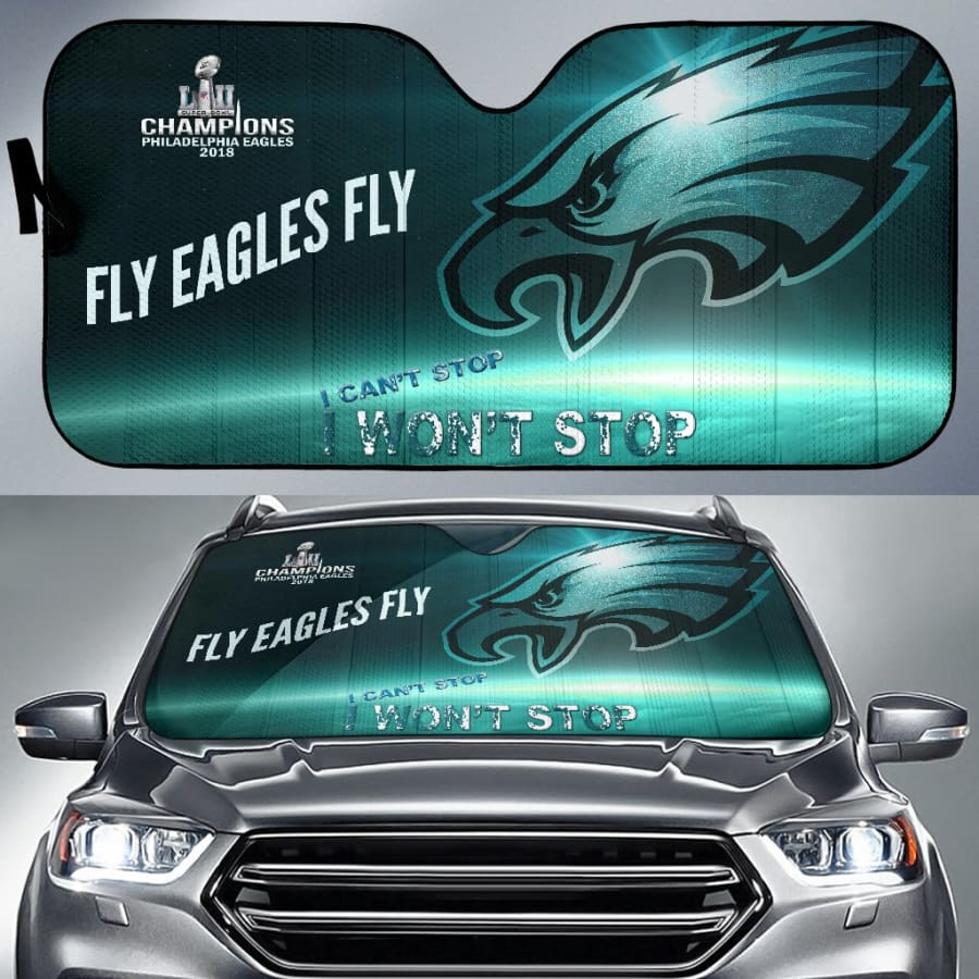 Philadelphia Eagles Champs Auto Sun Shade Protect Against UV Rays & Damage - Universal Fit