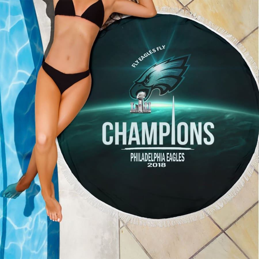 Philadelphia Eagles Champs Round Beach Blanket | Picnic