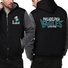 Philadelphia Eagles Jacket| Super Bowl Fleece Throwback Jacket (4 Colors)