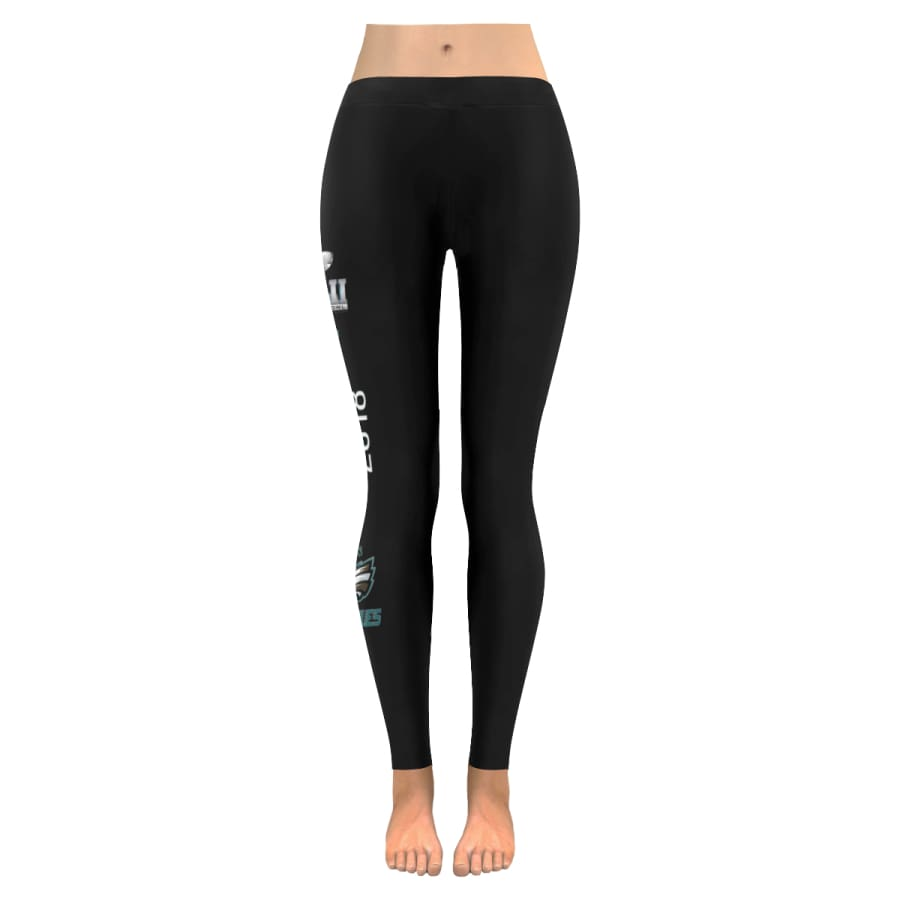 Philadelphia Eagles Leggings | Super Bowl Yoga Pants Black