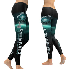 Philadelphia Eagles Leggings 3D Full Print|Super Bowl Tights/Yoga Pants Midnight Green