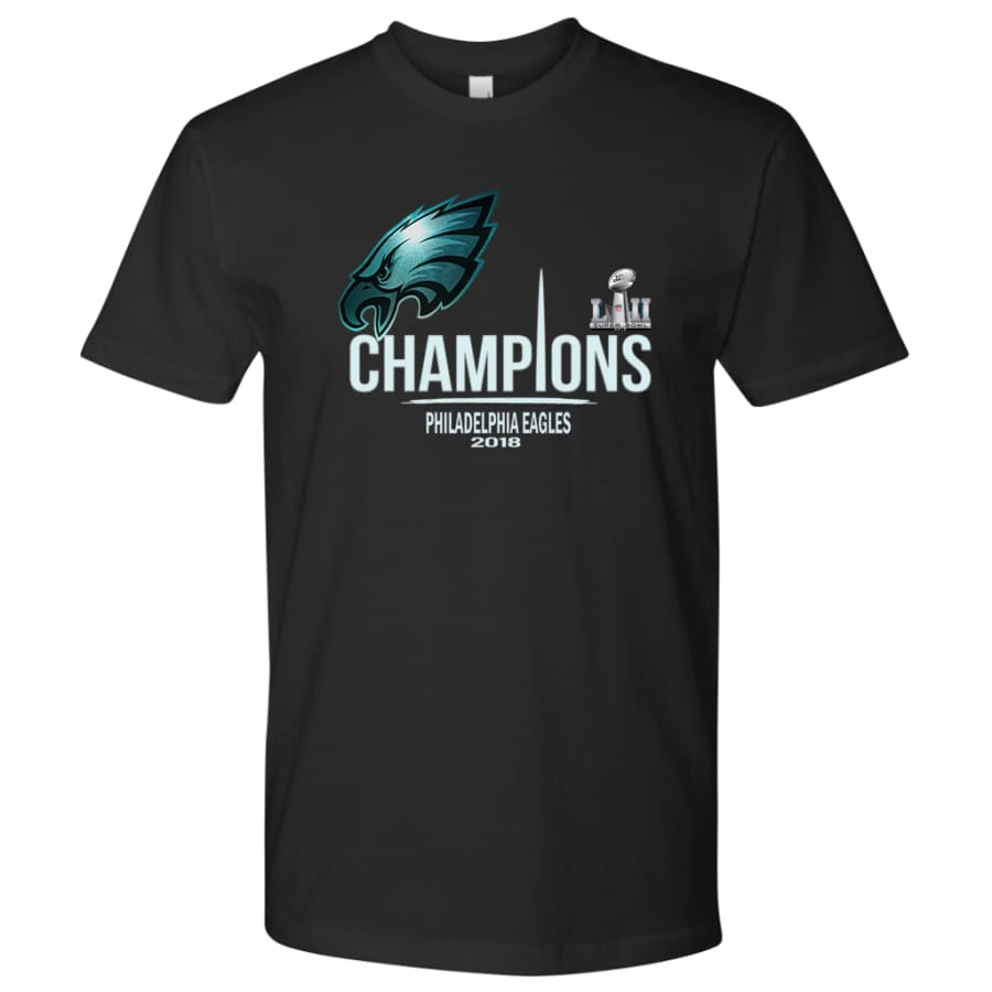 Philadelphia Eagles Shirt Mens| Super Bowl Champs Shirts (15 Colors) - Next Level Mens / Black / S