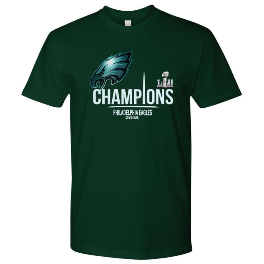 Philadelphia Eagles Shirt Mens| Super Bowl Champs Shirts (15 Colors) - Next Level Mens / Forest Green / S