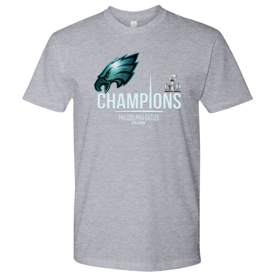 Philadelphia Eagles Shirt Mens| Super Bowl Champs Shirts (15 Colors) - Next Level Mens / Heather Grey / S