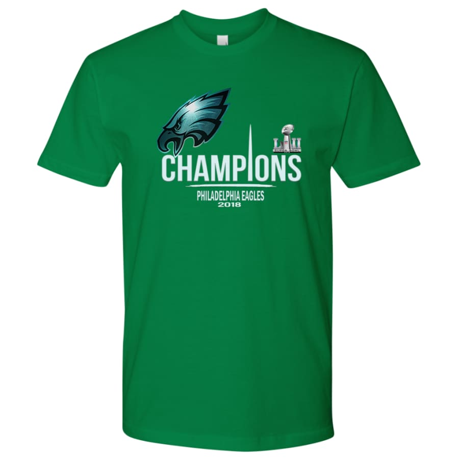 Philadelphia Eagles Shirt Mens| Super Bowl Champs Shirts (15 Colors) - Next Level Mens / Kelly / S