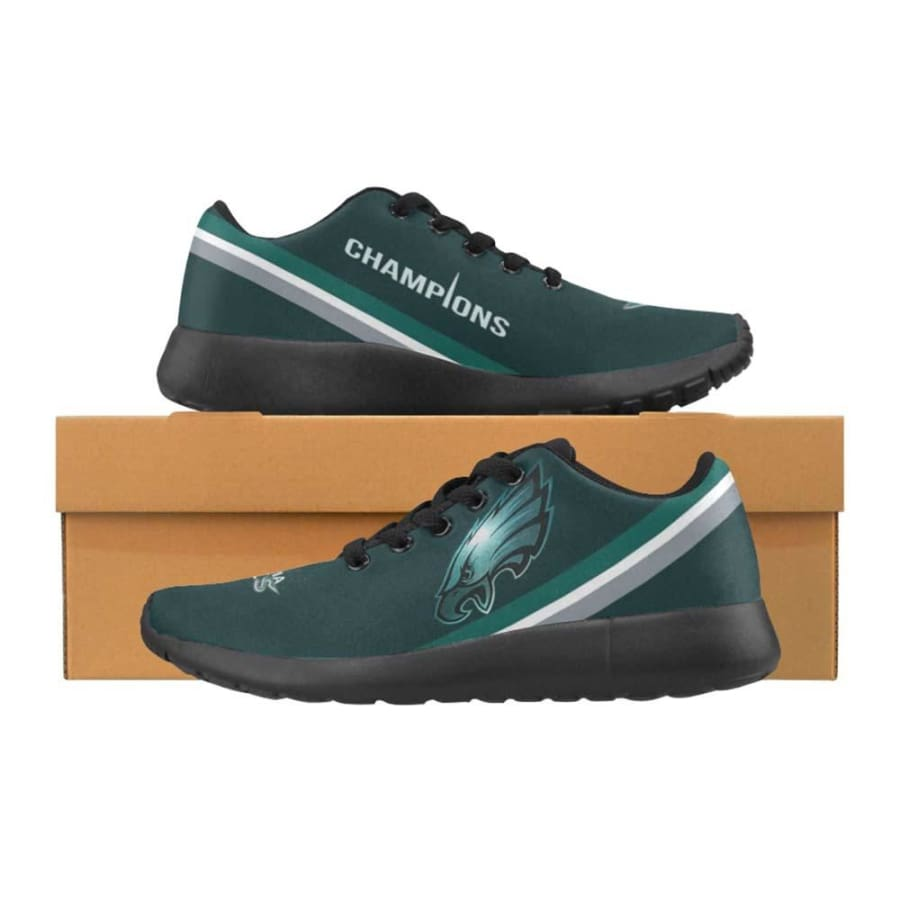 Philadelphia Eagles Shoes Mens Womens Kids| Super Bowl - Sneakers Style3 (Model 020) / US5 / Man