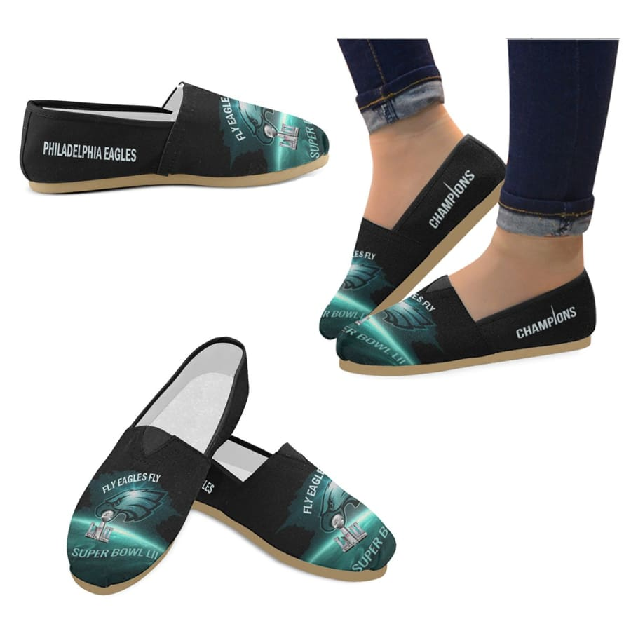 Philadelphia Eagles Women Slip On Shoes|Super Bowl Champs Shoes - US4.5