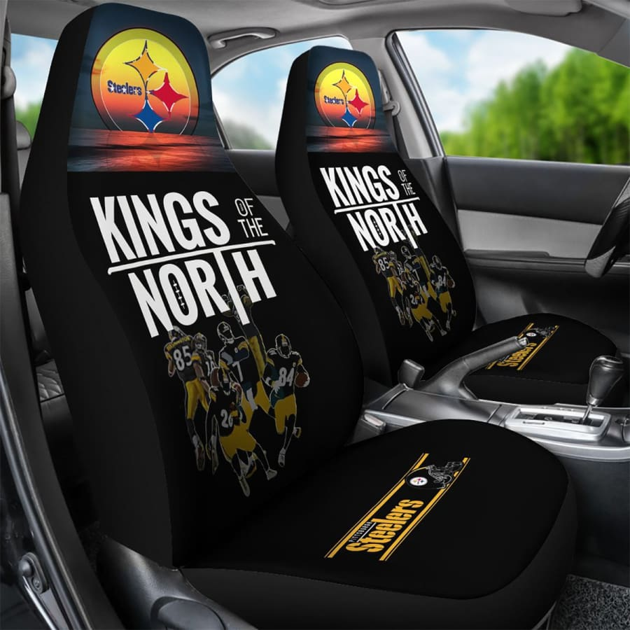 Pittsburgh Steelers Car Seat Covers 2pcs | Kings Of The North