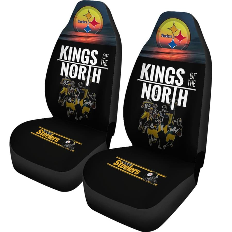Pittsburgh Steelers Car Seat Covers 2pcs | Kings Of The North - |Free Shipping |No Tax / Universal Fit