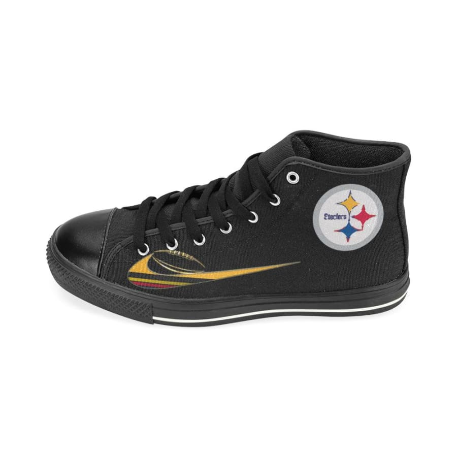 Pittsburgh Steelers Dilly High Top Sneaker Black Yellow Men Women Kids