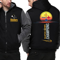 Pittsburgh Steelers Jacket| Fleece Varsity Jackets| Pullover (4 Colors)