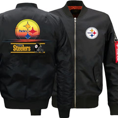 Pittsburgh Steelers Ma-1 Bomber Jacket|Steelers Varsity Jackets(2 Colors)