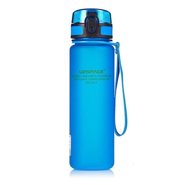 Protein Shakes Sports Water Bottle - 650ml / Blue