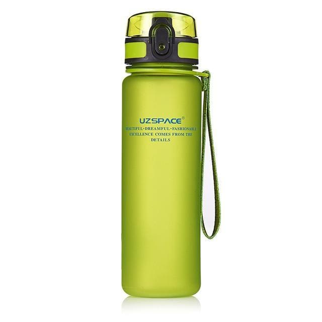 Protein Shakes Sports Water Bottle - 650ml / Green