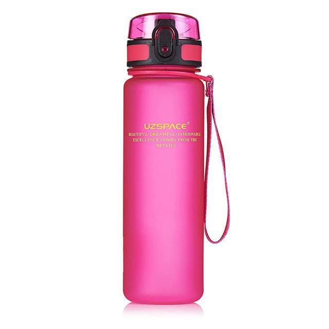 Protein Shakes Sports Water Bottle - 650ml / Pink