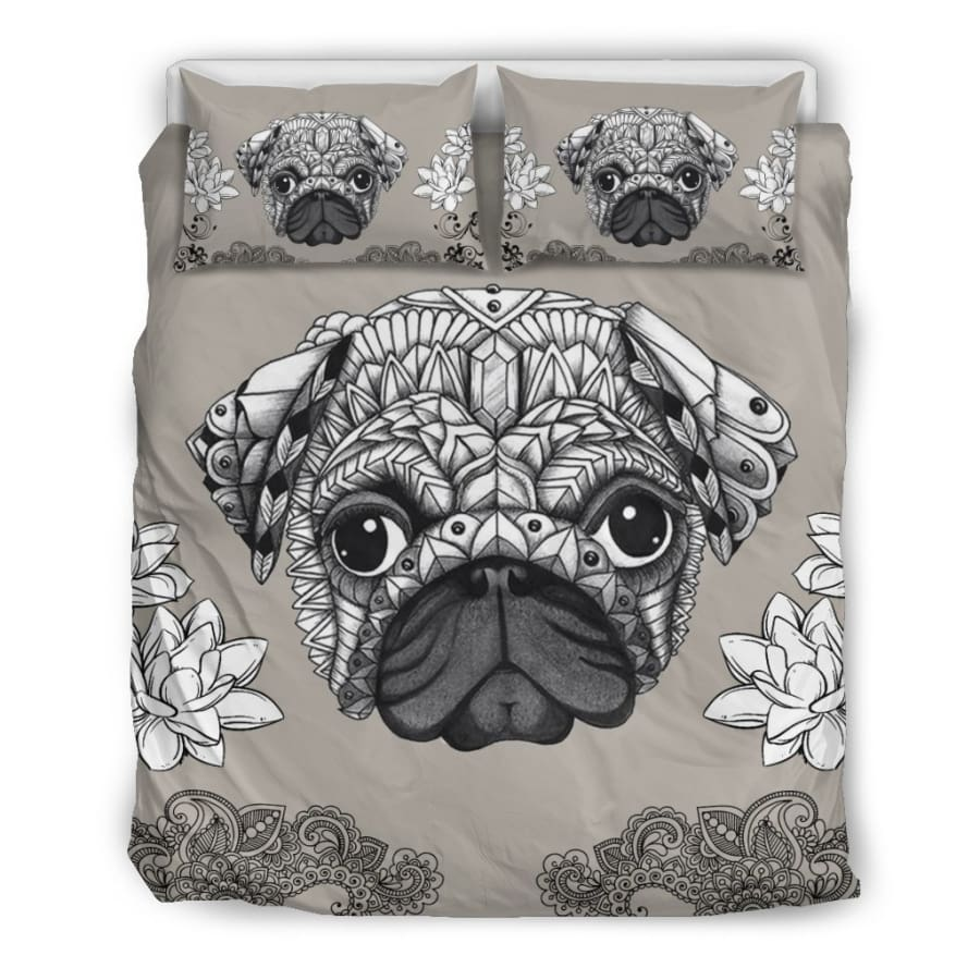 Pug Bedding Set - Queen/Full