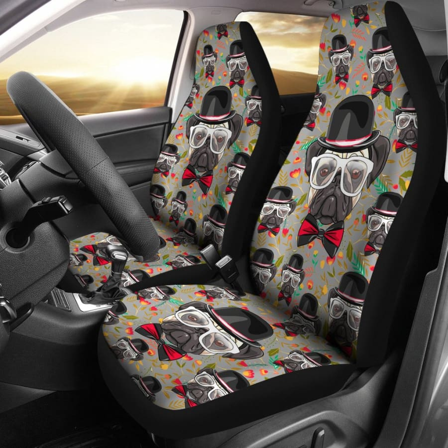 Pug Car Seat Covers 2pcs