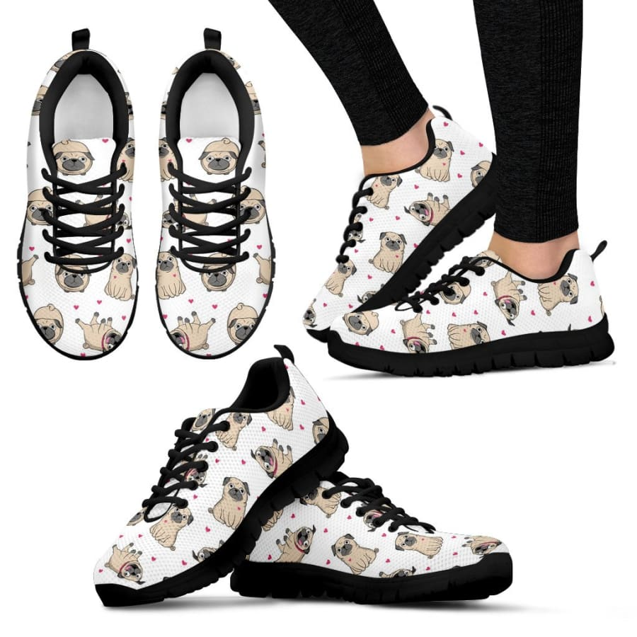 Pug Lover Sneakers Women - Womens / US5 (EU35)