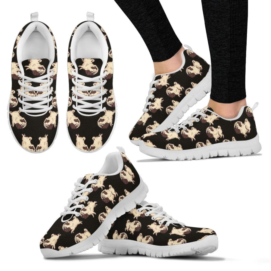 Pug Lover Womens Sneakers - US5 (EU35)