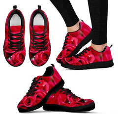 Roses Women's Sneakers|Red Roses Shoes|Valentines Gift