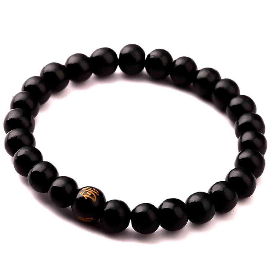 Sandalwood Prayer Bead Bracelets For Men Women Meditation Healing - black