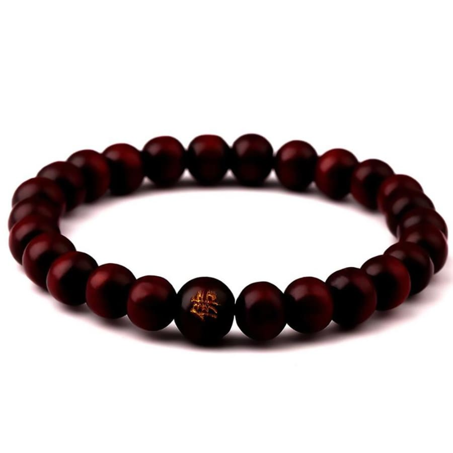 Sandalwood Prayer Bead Bracelets For Men Women Meditation Healing - red