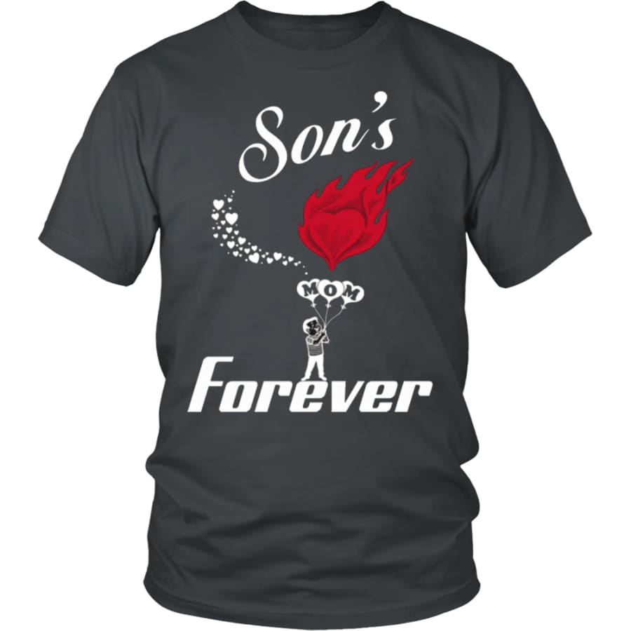 Sons Love For Mom Forever Unisex T-Shirt (13 colors) - District Shirt / Charcoal / S