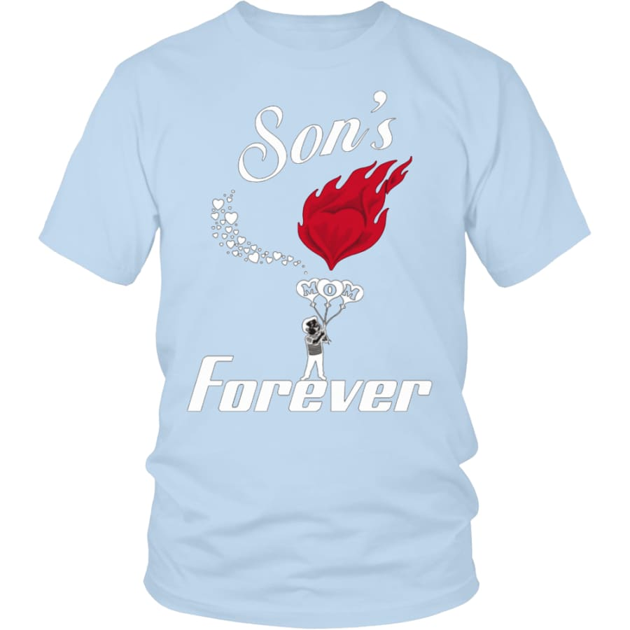 Sons Love For Mom Forever Unisex T-Shirt (13 colors) - District Shirt / Ice Blue / S