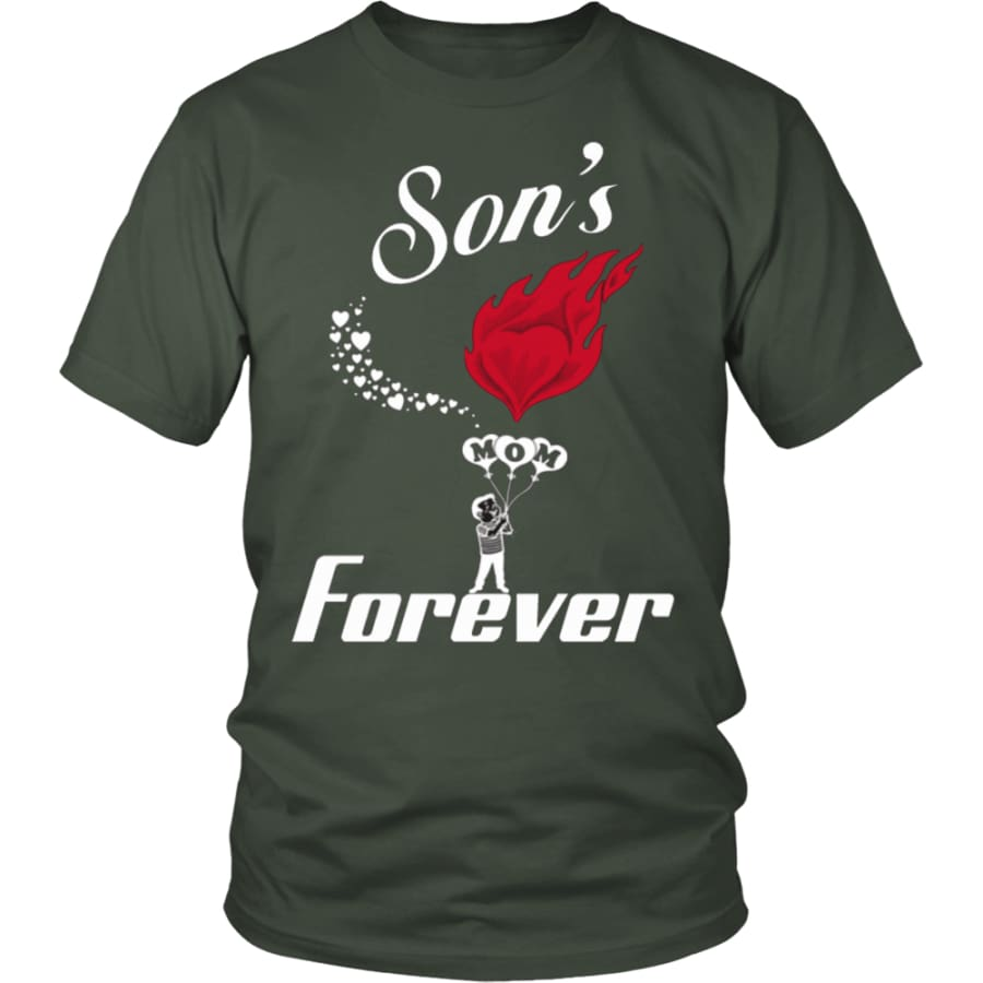 Sons Love For Mom Forever Unisex T-Shirt (13 colors) - District Shirt / Olive / S