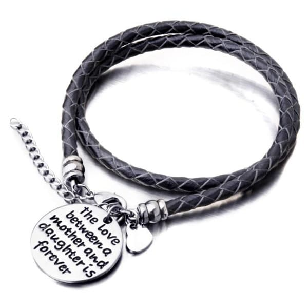The Love Between a Mother and Daughter is Forever - Hand Stamped Bracelet