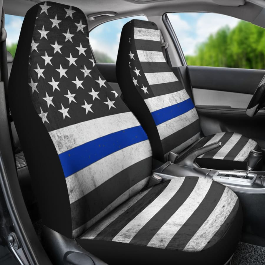 USA Flag Car Seat Covers Set 2pcs - Independance Day Gift