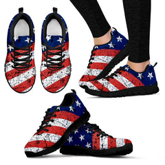 USA Flag Sneakers July 4th Gift