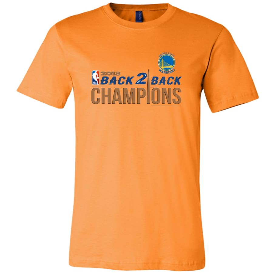 Warriors Shirt For Men| Golden State Champion T shirt (14 Colors) - Canvas Mens / Orange / S