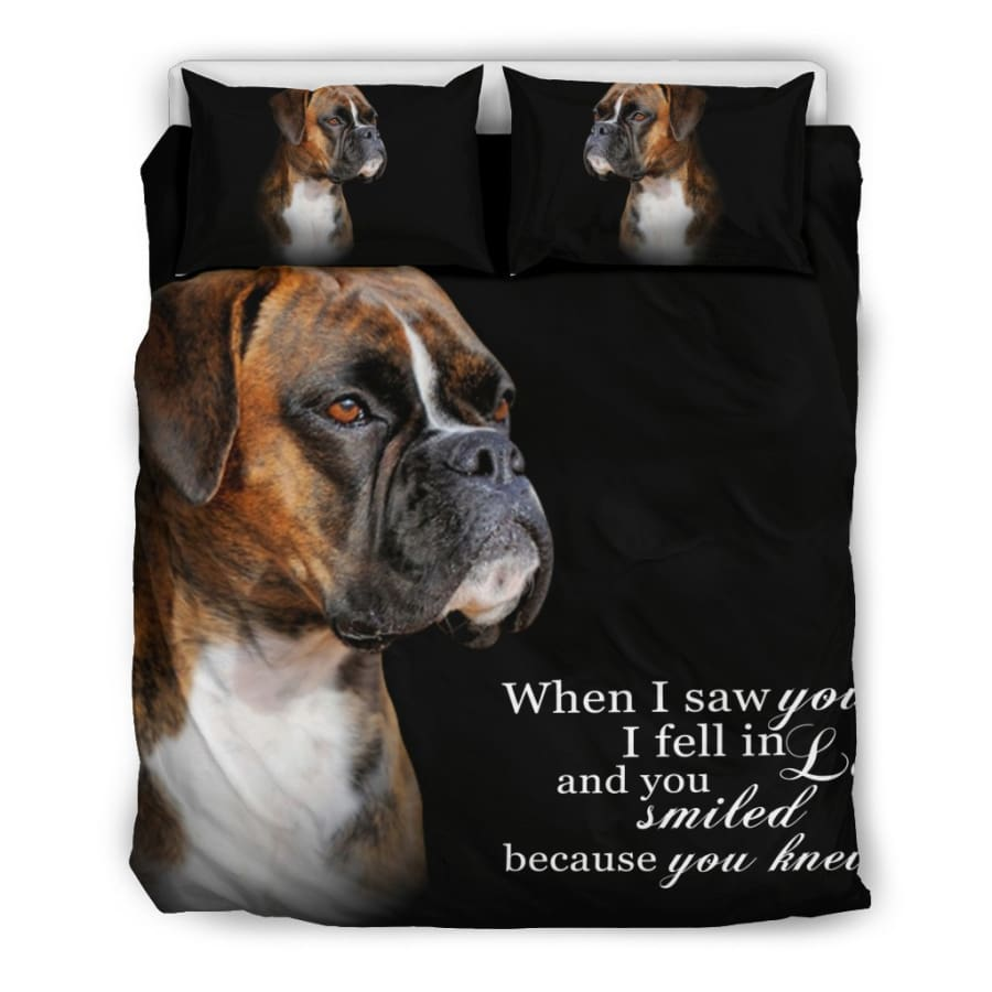 When I Saw You... boxer Bedding Set - Queen/Full