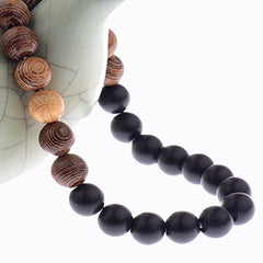 Wood Prayer Beads Bracelets For Men Women Meditation Healing